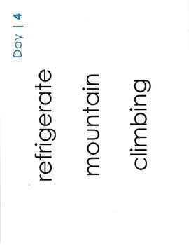 Multisyllabic Words: Large Copy