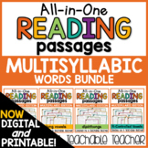 Multisyllabic Words Reading Passages - All-in-One BUNDLE | Distance Learning