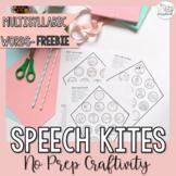 Multisyllabic Words Speech Kites Craft- Freebie