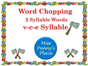 Multisyllabic Words VCE Syllables