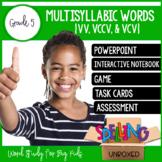 Multisyllabic Words (VV, VCCV, & VCV Patterns) Spelling Wo