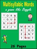 Multisyllabic Words (a game like Boggle)