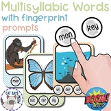Multisyllabic Words with Fingerprint Prompts (marking syll