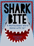 "Multisyllabic ""-ar"" Words Decoding/ Fluency Game- Shark Bite!"