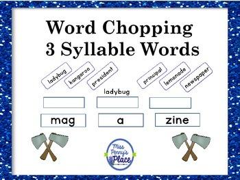 Syllable Bonanza - 3 Syllable Words