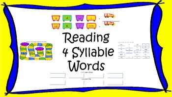 Multisyllable Challenge - 4 Syllable Words