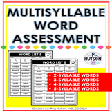 Multisyllable Word Assessment