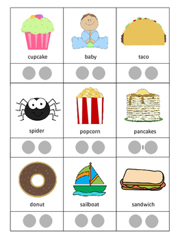 Multi-syllable Word Cards with Pacing Cues