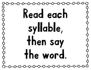 Multisyllable Word Strategy Posters
