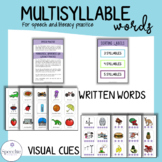 Multisyllable Words for Speech and Literacy Practice