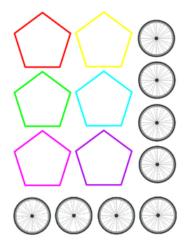 Multitude of Uses Shapes Fine Motor Build Sort Count Color Playtime Learning 4pg