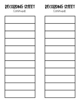 Multiuse Recording Sheet by Education and Inspiration