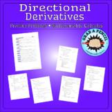 Multivariable Calculus: Directional Derivatives Practice Problems