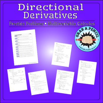 Multivariable Calculus: Directional Derivatives Practice Problems
