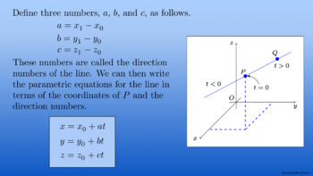 Multivariable Calculus: Lines and Planes Complete Lesson