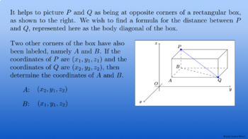 Multivariable Calculus: Working in Three Dimensions Complete Lesson