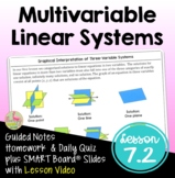 Multivariable Linear Systems with Lesson Video (Unit 7)