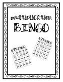 Multplicaiton Bingo Boards