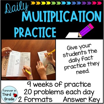 Daily Multiplication Facts Warm-Up