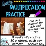 Daily Math Warm-Ups: Multiplication