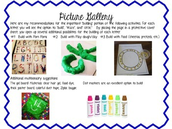 Alphabet/Letter Practice Activities (Multisensory)