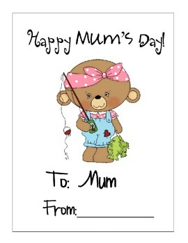 Mum- Happy Mum's Day Book!