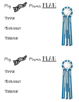 Mum Intro insert for interactive note book- Floral Design