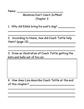 Bailey School Kids: Mummies Don't Play Softball comprehension questions