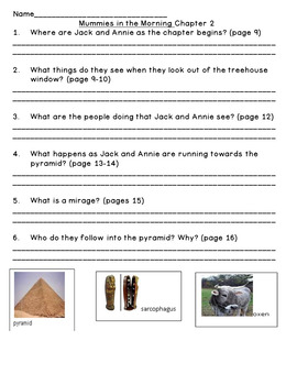 Mummies In the Morning--Level N--Guided Reading Comprehension Questions