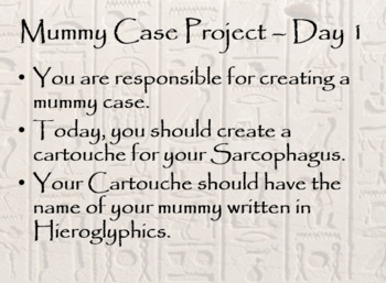 Mummies Powerpoint and Mummy Case Project