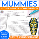 Mummies Close Reading and Test Practice