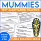 Close Reading and Mentor Sentences:  Mummies Who Didn't Re
