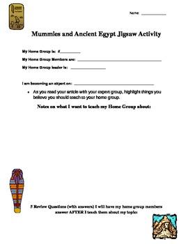 Mummies and Ancient Egypt Jigsaw Template