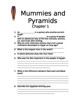Mummies and Pyramids Study Questions and Quizzes