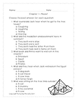 Mummies in the Morning Chapter Quizzes - Magic Tree House #3