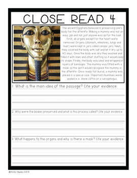 Mummies in the Morning-A Magic Tree House Guided Reading Activity