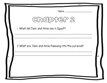 Mummies in the Morning/ Magic Tree House Comprehension Questions