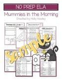 Mummies in the Morning NO PREP (ELA) SAMPLE
