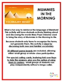 Mummies in the Morning vocabulary bingo