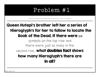 Mummies in the Morning Word Problems