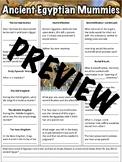 Mummies of Ancient Egypt Worksheet
