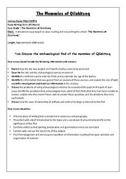 Mummies of Qilakitsoq Assessment Task
