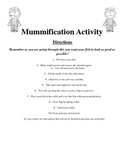Mummification Activity