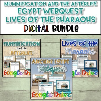 Mummification-EgyptWebQuest-Lives of Pharaohs Bundle {Digital}