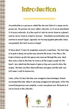 WATCH AND LEARN Mummification process