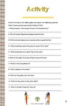 Mummification process. Watch and Learn Series.