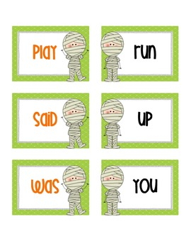 Mummified Sight Words: Read and Write the Room
