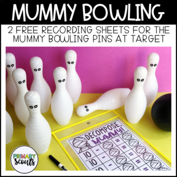 Mummy Bowling Recording Sheet - FREE