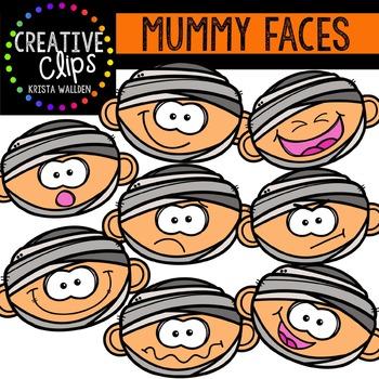 Mummy Faces {Creative Clips Digital Clipart}