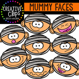 Mummy Faces {Creative Clips Digital Clipart}